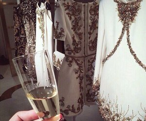 dress, luxury, and champagne image