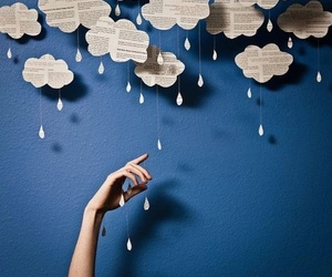 clouds, rain, and Paper image