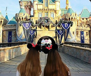 bff, photography, and disneyland image