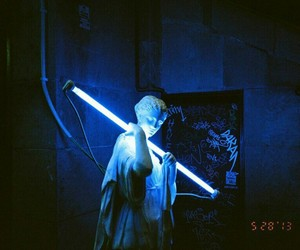 grunge, blue, and neon image