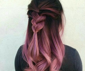 black, hairstyle, and pink image