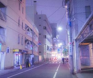 purple, city, and pastel image