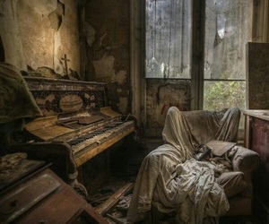 piano, abandoned, and old image