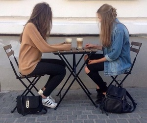 friends, grunge, and coffee image