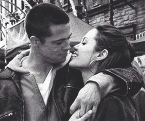 brad pitt, Angelina Jolie, and love image