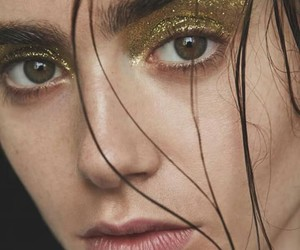 lily collins and glitter image