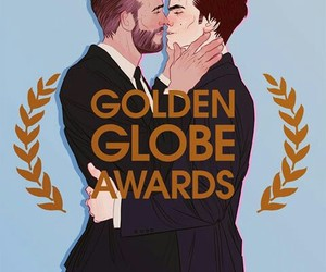 deadpool, fanart, and golden globe awards image