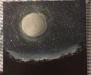 acrylic, moon, and night image