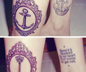 tattoo, anchor, and key image