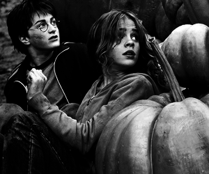 harry potter, hermione granger, and black and white image