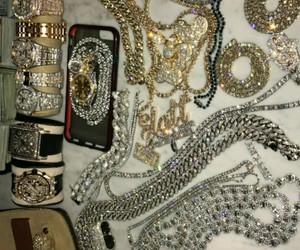 gold, diamonds, and young thug image