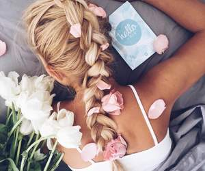 braid, beautiful, and blonde image