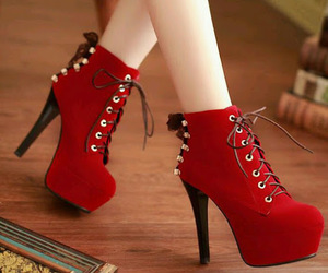 shoes, heels, and red image