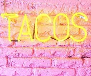 tacos, pink, and neon image