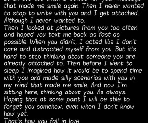 attached, fall in love, and messages image