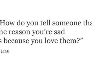 sad, love, and deep image