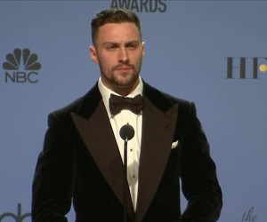 aaron taylor-johnson and golden globes 2017 image