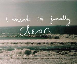 clean, ocean, and Lyrics image