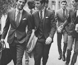 men, boys, and suit image
