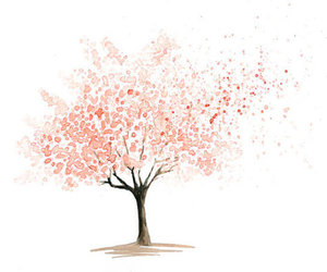 arbre, dessin, and rouge image