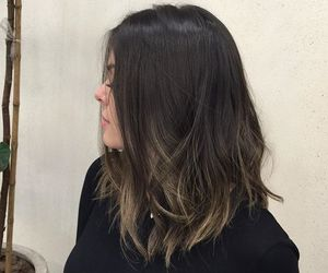 long bob and ombre hair image