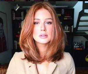 ginger, long bob, and hair image