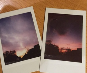 clouds, instax, and polaroid image