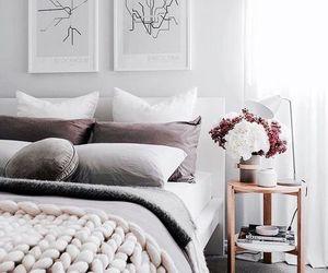 bedroom, loft, and Scandinavian image