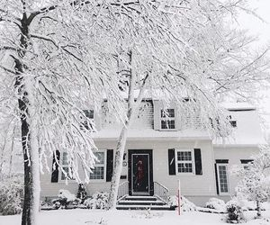 snow, home, and house image
