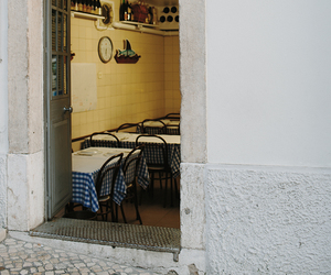 cafe, lisbon, and portugal image