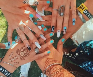 nails, coachella, and friends image
