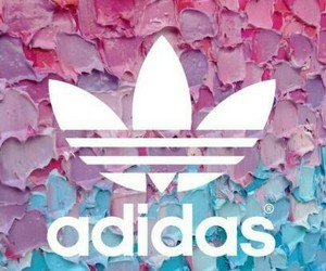 adidas, pink, and blue image