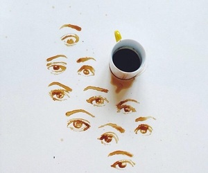 coffee, art, and eyes image