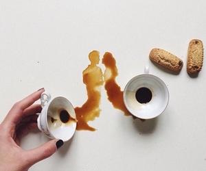 art, coffee, and couple image
