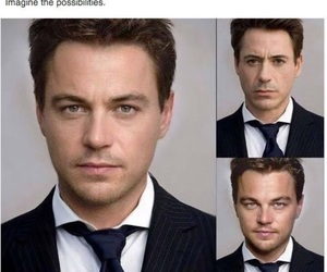 leonardo dicaprio, robert downey jr, and funny image