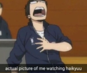haikyuu, anime, and funny image