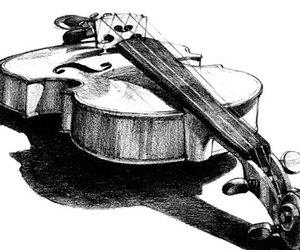 violin, art, and drawing image