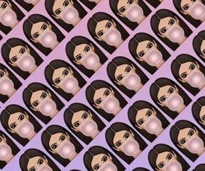 wallpaper, kim kardashian, and kimoji image