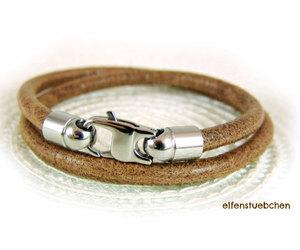 men's, wrap bracelet, and layered bracelet image