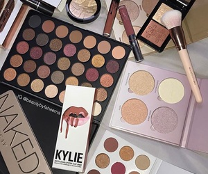 cosmetics, makeup collection, and naked palette image