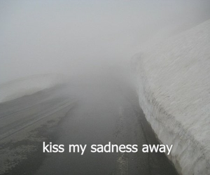 sadness, kiss, and sad image