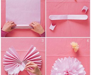 diy, pink, and flowerpuff image