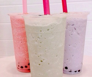 drink, bubble tea, and food image