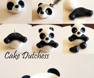panda, diy, and cake image