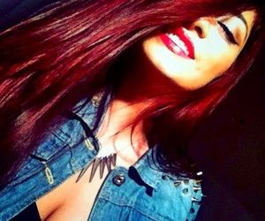girl, red hair, and red lips image