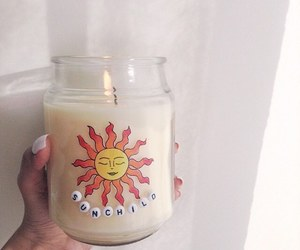 candle, sun, and girl image