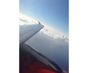 airplane, fly, and Flying image