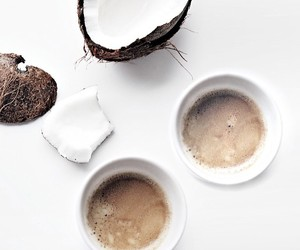 coconut, coffee, and food image
