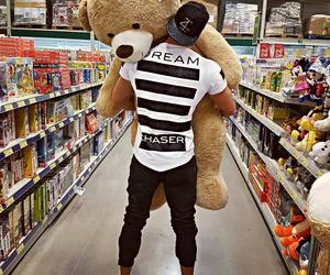 love, bear, and boy image