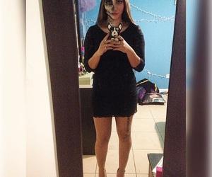 black, dress, and Halloween image